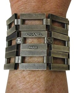 Chanel Rectangular Links Hinged Cuff Bracelet