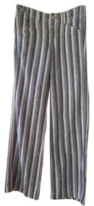 Anthropologie Linen Striped Casual Textured Pants