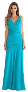 Halston Maxi Full Length Fitted Dress
