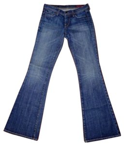 Citizens of Humanity Distressed Stretchy 5-pocket Flare Leg Jeans-Distressed