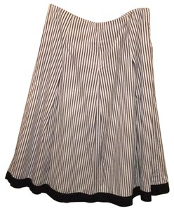 Talbots Skirt Striped Pleated
