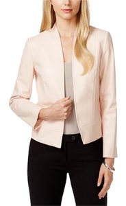 Tahari Tahari ASL New Womens Blush Leatherette Open-Front Jacket Blazer 4P