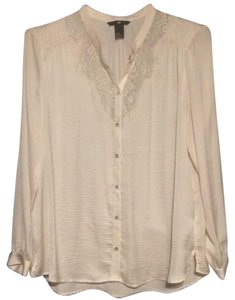 H&M Button Down Shirt Cream