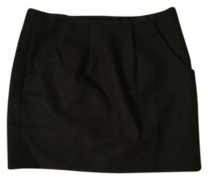 J.Crew Mini Mini Skirt Black felt