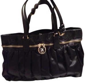 Henri Bendel Satchel in Black & Gold