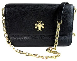 Tory Burch Mercer Pebbled Leather Cross Body Bag