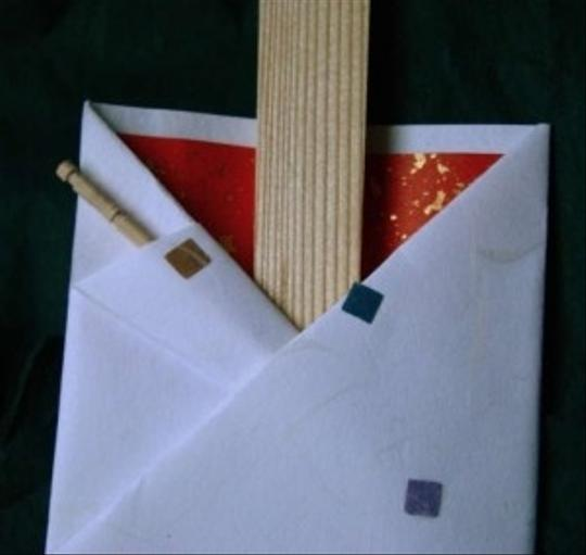 Japanese Paper Chopstick & Sleeve (2 Sets)