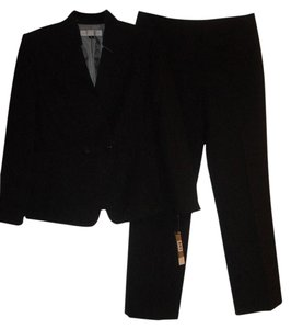 Tahari Tahari Asl New Black/White Two-Button Pinstripe Pant Suit 10P