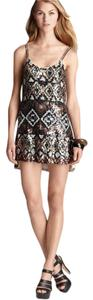 Parker Sequin Print Evening Dress