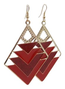 Other Light Weight Red Chevron Earrings w Free Shipping