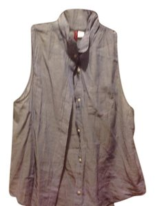 fcf773af4647e6 Divided by H M Brand Button Up Sleeveless Top Light blue