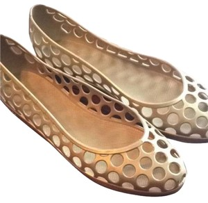 Marc Jacobs Gold Flats