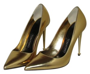 Tom Ford Metallic Gold Leather Pumps