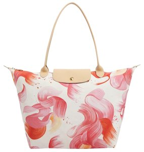 Longchamp Tote in Coral