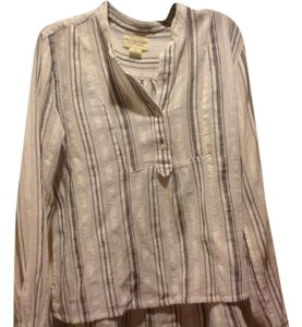 Denim & Supply & Beige& Peasant Style Like New Top Beige and black