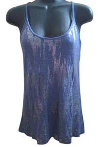 Urban Outfitters Racerback Printed Summer Knit Top Blue