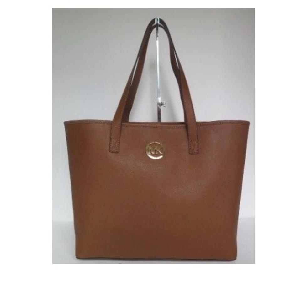 c40c49cec8b5 Michael Kors Jet Set Travel Medium Travel 35s3gtvt2t Brown Leather Tote