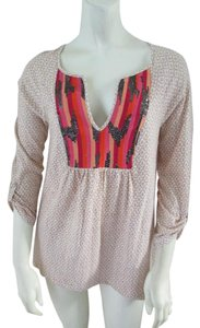 Anthropologie Cotton Embroidered Tunic