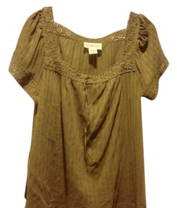 Denim & Supply & Like New Peasant Style Top Olive green