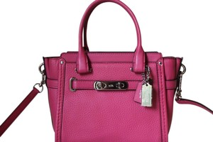 Coach Leather Purse Satchel in Pink