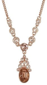 Givenchy Swarovski elements crystals sets in Rose gold tone Y shap necklace