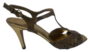 Nine West Snake & Gold Sandals
