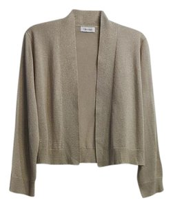Calvin Klein Open Front Cable Sweater Polyester Glitter Cardigan