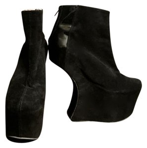 Jeffrey Campbell Platform Black suede and patent leather Platforms