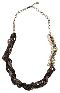 Posh by Feri Bronze Silver & Black Dangling Necklace with Pearls - Posh by Feri