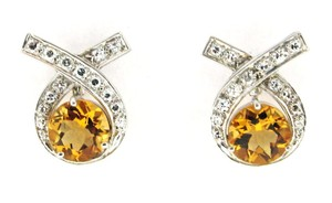 Other Platinum, 14k, diamond & citrine earrings