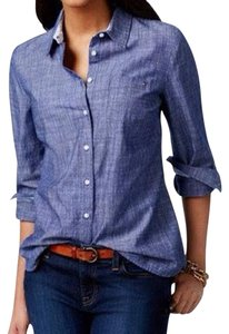 Tommy Hilfiger Button Down Shirt Dark Washed Blue