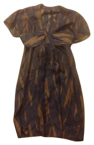 French Connection Silk Tie Soft Sleaves Dress