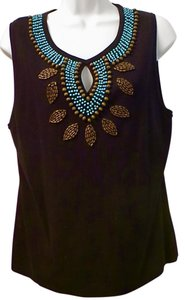Willi Smith Beaded Vest Soft Sweater