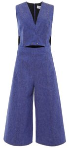 10 Crosby Derek Lam Denim Studded Jumpsuit V-neck Dress