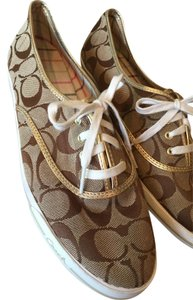 Coach Sneakers Flats Tan Athletic