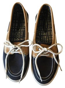 Tommy Hilfiger Slip On Blue, tan Flats