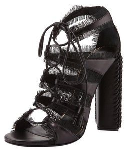 Tom Ford Black Lace-Up Sandals