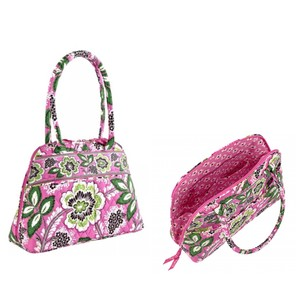 Vera Bradley Bowler Handbag Satchel Priscilla Shoulder Bag