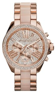Michael Kors MK6096 WOMENS MICHAEL KORS WREN ROSE GOLD TONE GLITZ WATCH