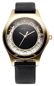 Marc by Marc Jacobs Marc Jacobs Women's Henry Skeleton Black Leather Watch MBM1340