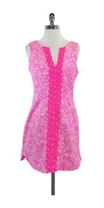 Lilly Pulitzer short dress Hot Pink White Print on Tradesy