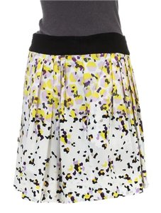 Diane von Furstenberg Mini Skirt White Multicolor