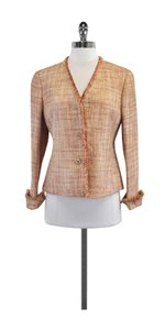 Lafayette 148 New York Pink Gold Tweed Jacket