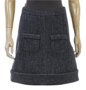 Balenciaga Mini Skirt Navy Blue