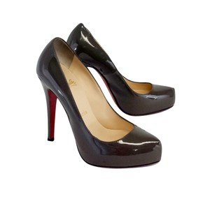 Christian Louboutin Taupe Patent Leather Pumps