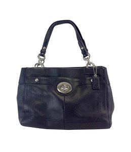 Coach Black Pebbled Leather Tote