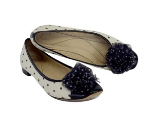 Kate Spade White Black Polka Dot Cap Toe Flats