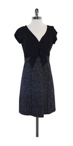 Rebecca Taylor short dress Black & Grey Twist Top Tweed on Tradesy