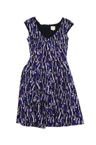 Reiss short dress Abstract Print Silk Cap Sleeve on Tradesy