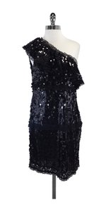 RED Valentino short dress Black Sequin One Shoulder on Tradesy